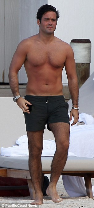 Red hot! The reality star seemed to be in pain as he sported painful-looking sunburn on his stomach
