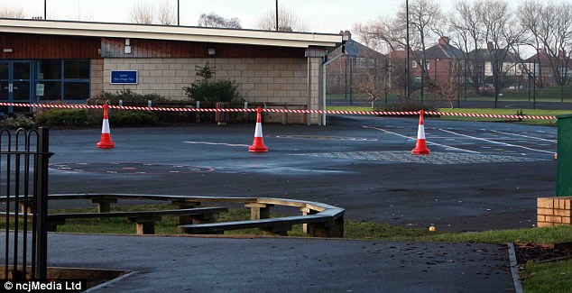 Danger? The tarmac playground at the school. The head teacher insisted children could run in other areas