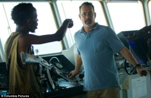 Action: Tom Hanks and Barkhid Abdi in Captain Phillips