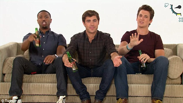 Just trying to be helpful: In the online video the acting trio try to help fans work out if they are in a relationship