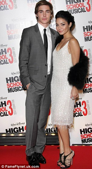 Joking at her expense? Zac's former long-term girlfriend Vanessa Hudgens, seen here in 2008, infamously had a number of naked photographs of her leaked onto the internet