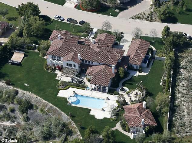 Busted: Za was arrested for possession of molly and Xanax following a raid on Justin's home (pictured)