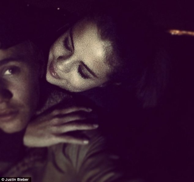Bogus: Someone is apparently attempting to sell fake photos and text messages they are claiming Justin sent to Selena Gomez