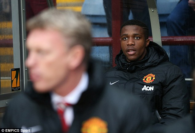 Staying power: David Moyes has told Wilfried Zaha that he cannot leave Manchester United on loan