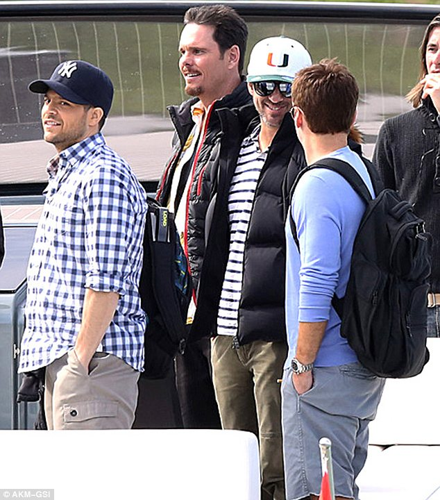 The boys are back in town: Filming for the movie kicked off a day earlier and the cast are clearly having fun
