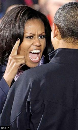 Formidable: Michelle Obama with her husband