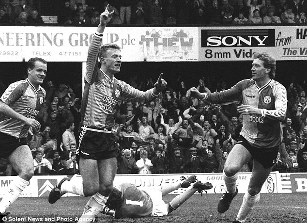 Instant impression: Alan Shearer scored a hat-trick on his full debut for Southampton in 1988