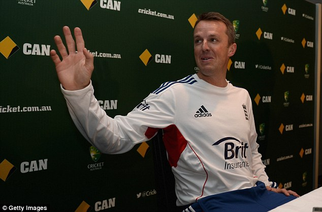 Stepping aside: Anderson's mate Graeme Swann struggling for the first two Tests of the series then retired