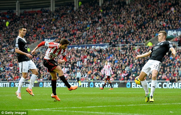 The two-minute rule: Fabio Borini blasted Sunderland back in the game 42 seconds after Lovren's goal
