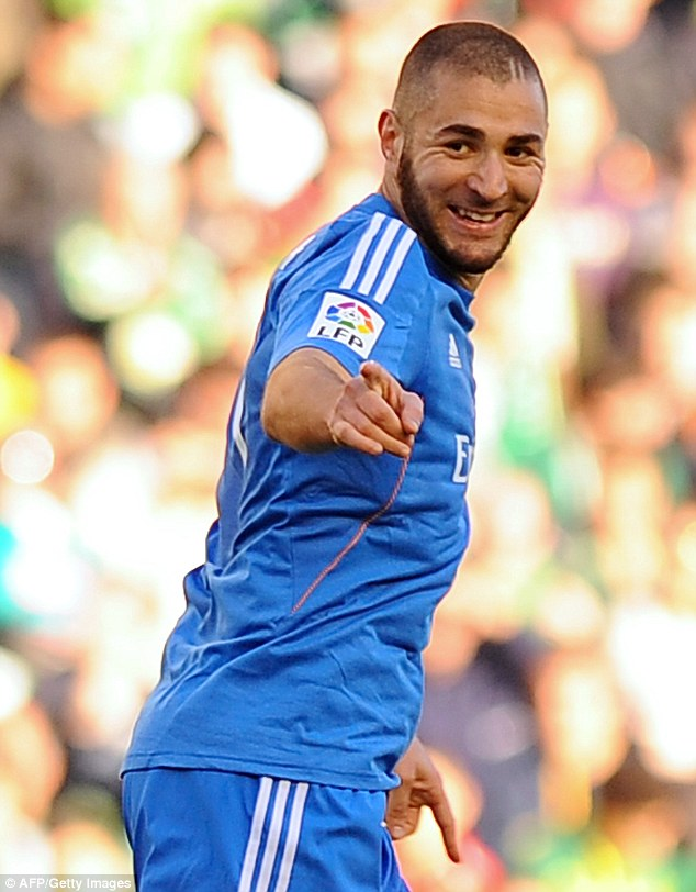 Three and easy: Karim Benzema settled the game as a contest shortly before half-time
