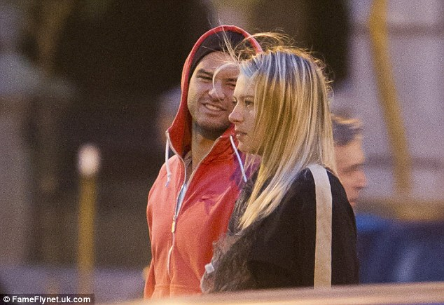 Mixed doubles: Sharapova and Dimitrov pictured together on an evening out in Spain