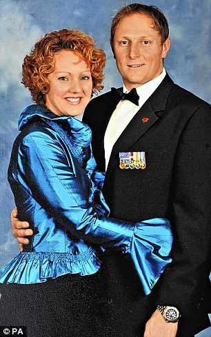 Sergeant Danny Nightingale with his wife Sally