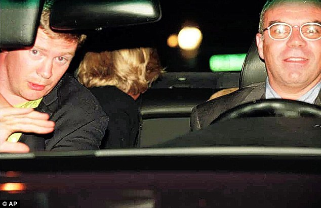 Last moments: Princess Diana in her doomed car driving through Paris