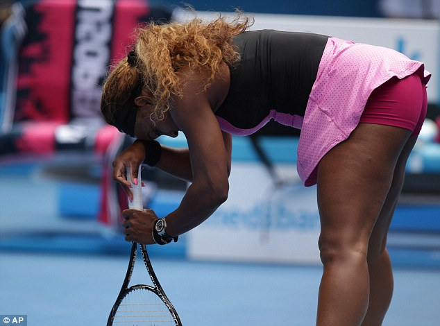 Stern test: The match turned into a much harder affair than Williams could have dreamed