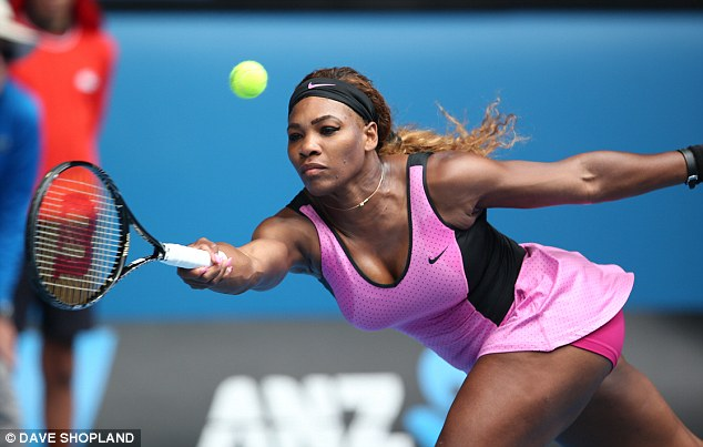 Reaching for it: Williams was made to work for every shot against an in-form Ivanovic