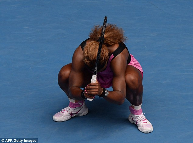 Devastated: Williams can't believe her performance as she crashes out