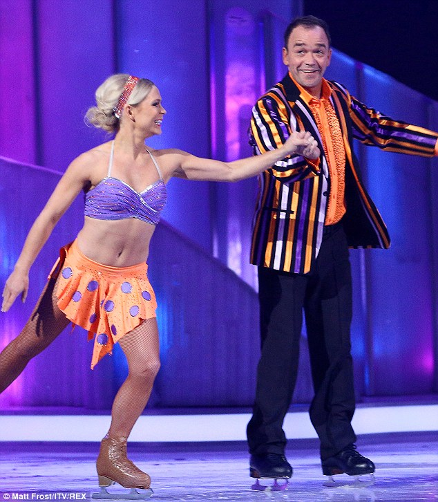He tried: The former EastEnders actor really tried during his performance, and even mocked when he accidentally skated off the rink in the last series, but it wasn't enough to win the judge's vote