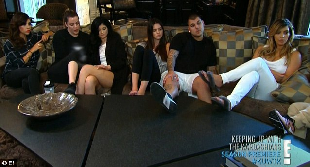 Family conversation: Kourtney, Khloe, Kylie, Kendall, Rob and Kim sat down to hear about the separation