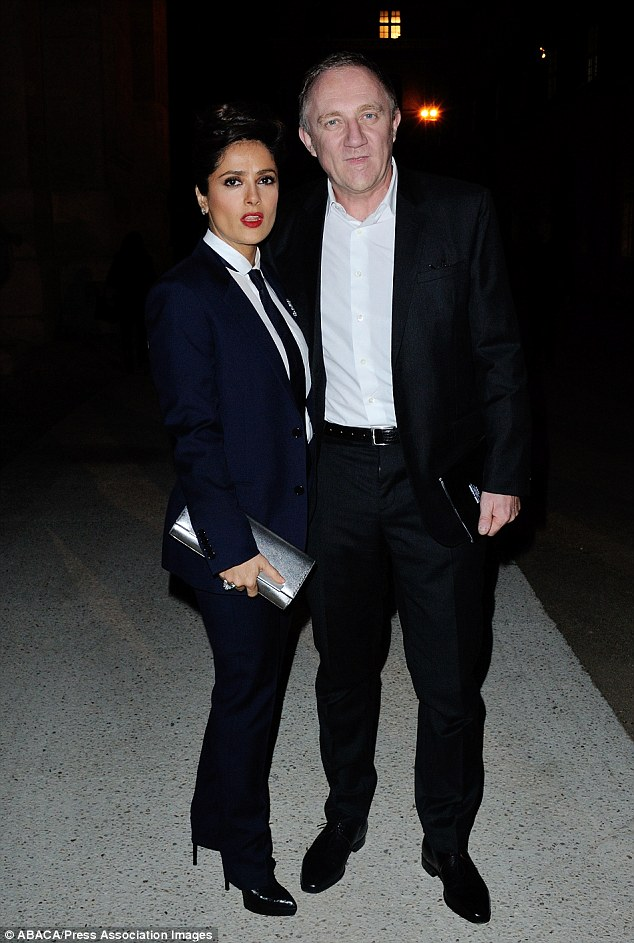 Who wore it best? Salma Hayek and Francois-Henri Pinault have a suit-off