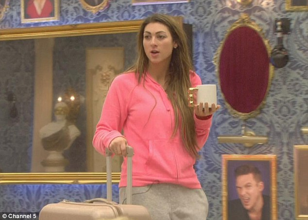 Fiery: Luisa Zissman started her day by arguing with Jim Davidson after he claimed to have never ironed a shirt