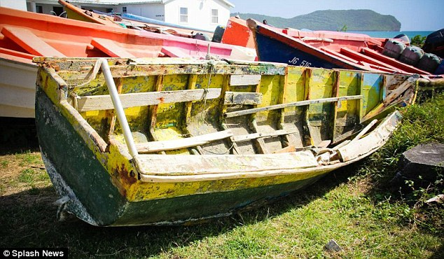 Low-tech: The rowing boat called Nobody Knows which the attackers reportedly used to approach the yacht