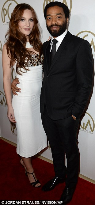 Another day, another award: Chiwetel Ejiofor and girlfriend Sari Mercer arrived at the bash