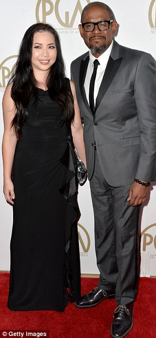 Another day, another award: Chiwetel Ejiofor and girlfriend Sari Mercer arrived at the bash with Morgan Freeman, who posed with Producer's Guild co-chair Lori McCreary