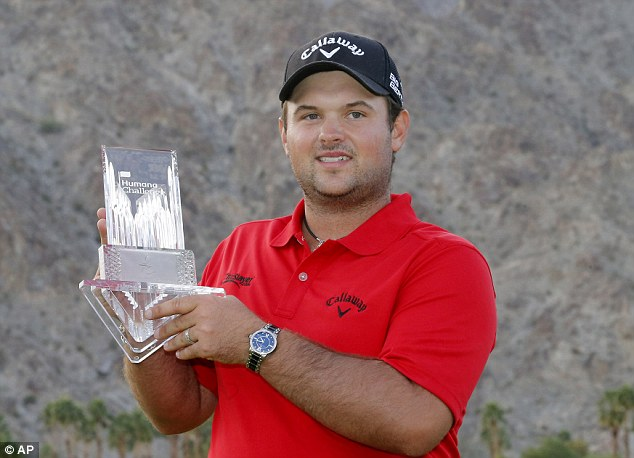 Victory: Patrick Reed poses with the trophy after winning the Humana Challenge on the PGA Tour