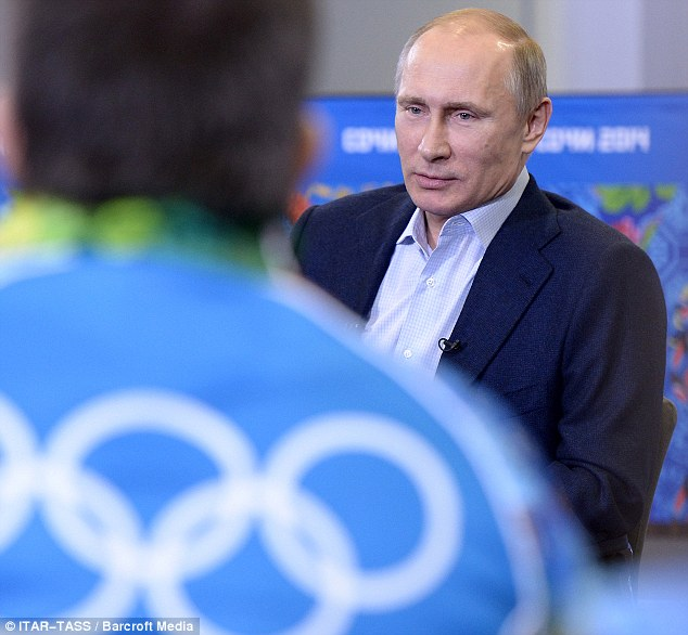 Russian president Vladimir Putin, seen in this file photo, told ABC that Russia will do 'whatever it takes' to make the Sochi Games secure. An expected 80,000 troops are to be on guard