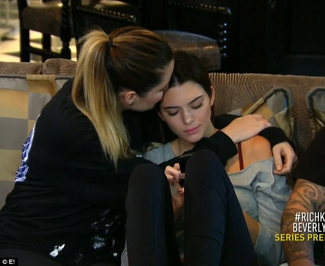 Sisterly love: Khloe tells Kendall they will always be sisters, and their parents' split won't change that