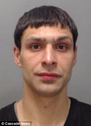 Jailed: Spartakas Grachauskas, who once tried to steal an IRA bomb memorial, has been jailed for money laundering after taking part in an online scam