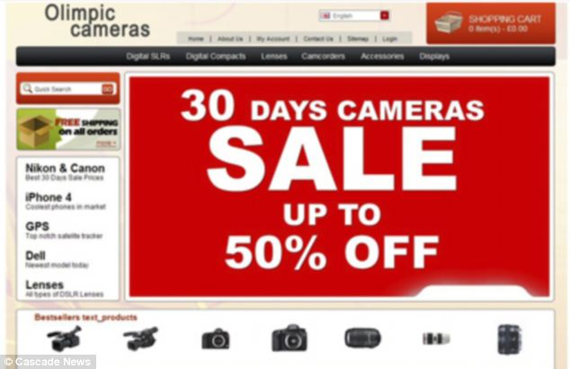Scam: The gang advertised discounted cameras, via websites called Olimpic Cameras,Technologies Shop, and Lions Tech, but the online shops were set up so that card payments would deliberately fail