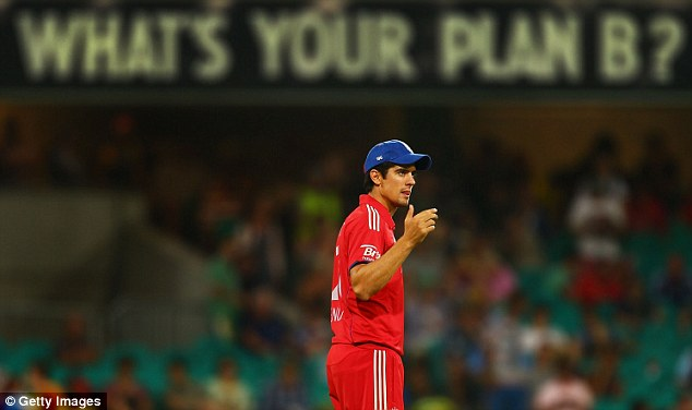 Losing habit: Cook has presided over eight defeats by Australia since the start of the Ashes