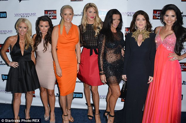 The whole gang: The entire female cast of The Real Housewives of Beverly Hills convened at the show's season premiere event in October