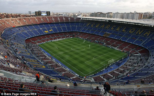 Spectacular arena: The current look of the 95,000 capacity Nou Camp