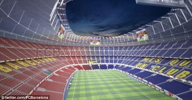 Nou look: The proposal for the inside of the increased-capacity stadium