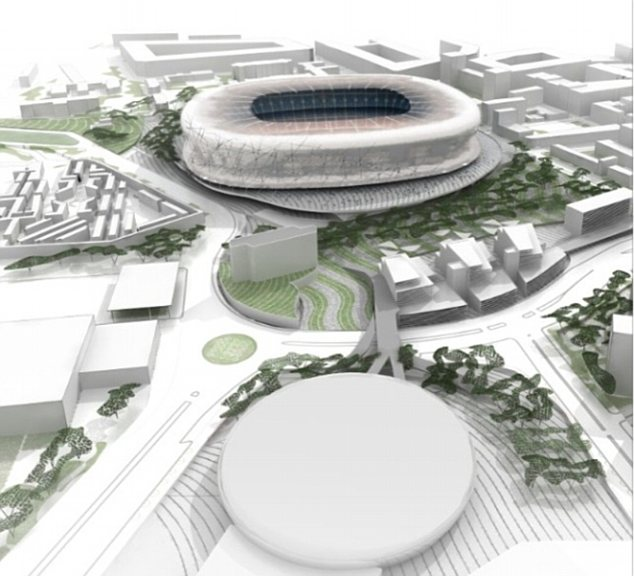 Grand design: Barcelona also plan to redevelop the area around the stadium