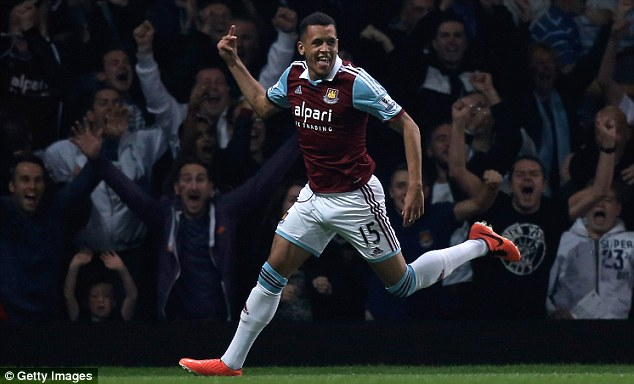 On the scoresheet: Morrison celebrates a goal against Cardiff in the Capital One Cup third third win
