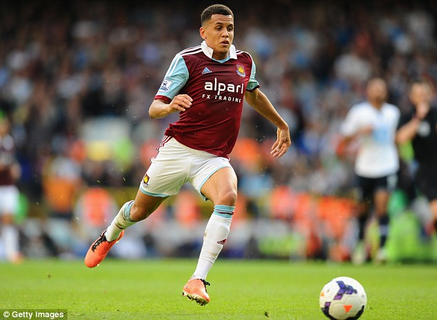 Prize asset: West Ham manager Sam Allardyce admits midfielder Ravel Morrision's head may have been turned by interest from Fulham