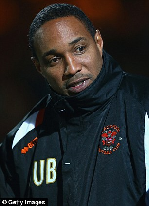 New employment needed: Ince was axed from his job as Blackpool manager by text message