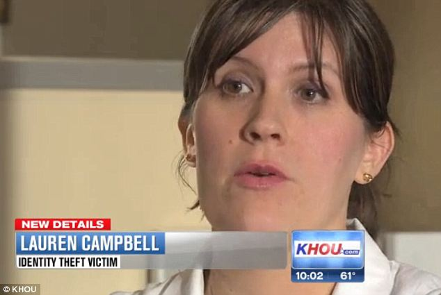 Connected? Dermatologist Lauren Campbell says she's been battling an identity thief since just days after learning Target may have leaked her sensitive information