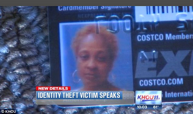Speaking out: The thief was able to spend $30,000 with a temporary card before Campbell ever received the shocking evidence. Now she's taken the proof to local news stations to help police nab the culprit