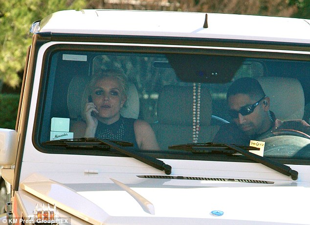 Bye bye Britney: The Until The World Ends singer got into the vehicle with her bodyguard before leaving the Target store