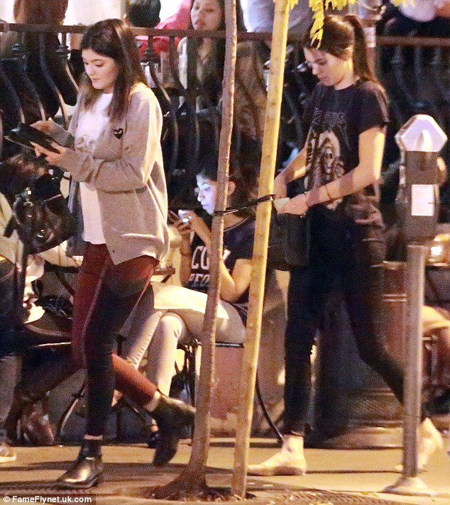 It's on me: The pair both had their purses out as they left the high-end eatery, suggesting they might've treated their friend to dinner