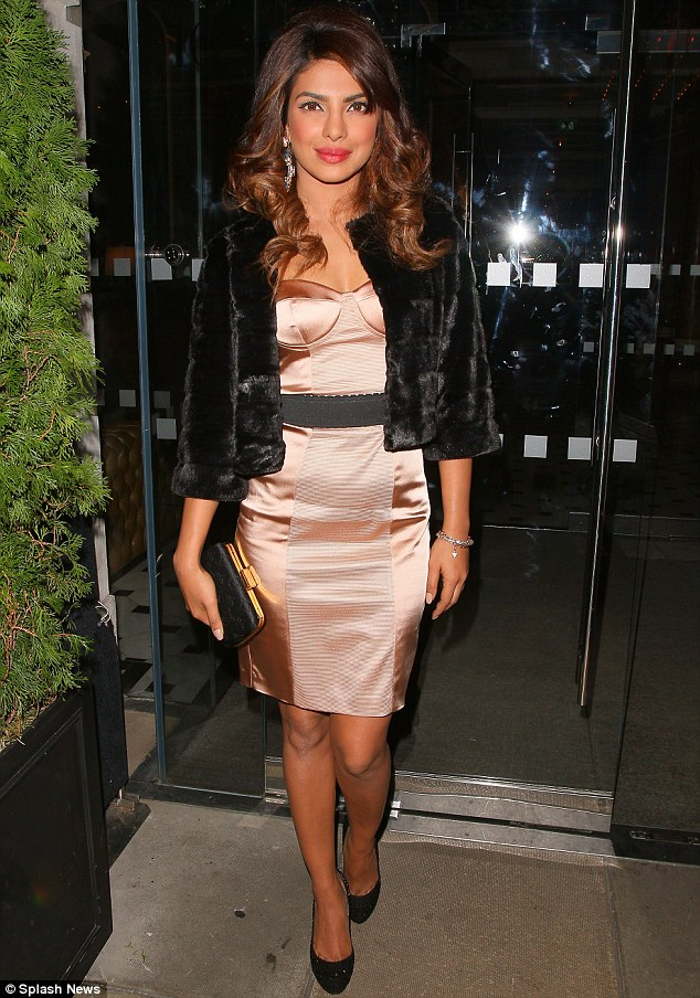 Guest of honour: Priyanka Chopra arrives at the GUESS Loves Priyanka VIP Dinner at the London Edition Hotel on Monday evening