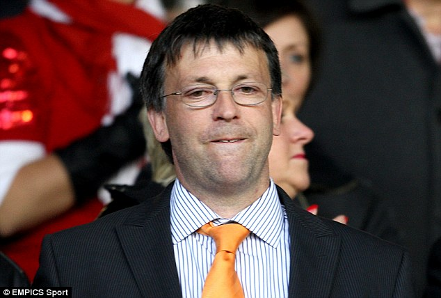 Annoyed: It is thought that chairman Karl Oyston was not happy when he could not contact Ince last week