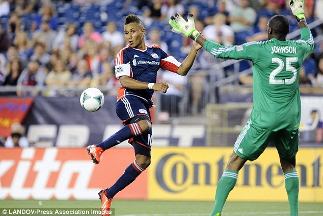 Farmed out: Juan Agudelo is heading for a loan spell at Utrecht after signing for Stoke