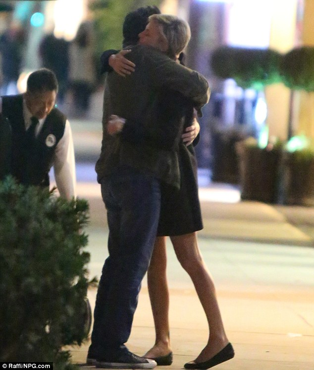 She gets around: On Sunday Charlize Theron first had dinner with Seth MacFarlane at Sugarfish in Beverly Hills...