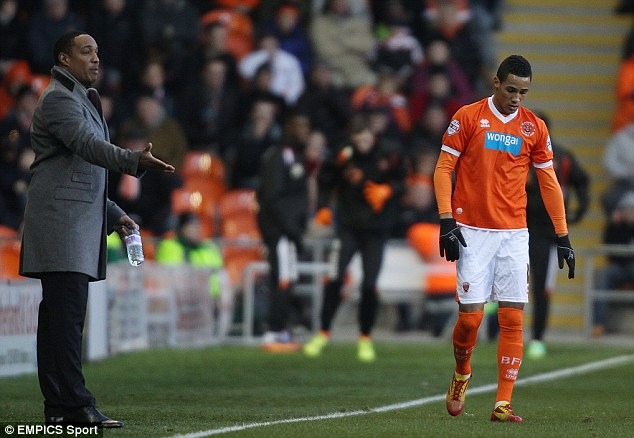Family affair over: Paul Ince will not manage his son, Tom, any more after losing his job as Blackpool manager