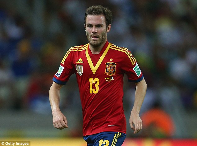 National pride: Mata is fearful of his place in Spain's squad for this summer's World Cup in Brazil